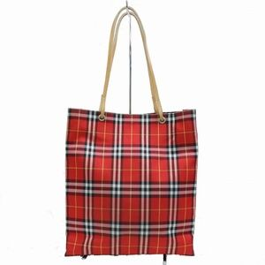 Authentic Burberrys Tote Bag Reds Nylon